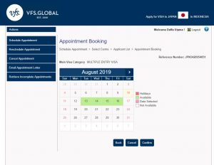 Alur daftar online di website VFS Global 4