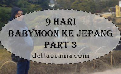 Babymoon ke Jepang Part 3